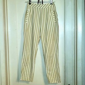 😀Vintage 80s high waist striped trousers pants